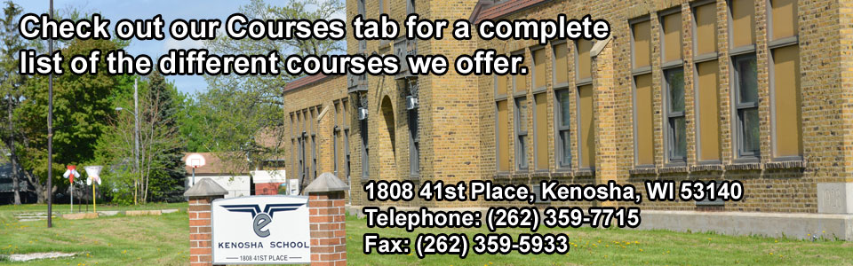 Check out our Courses tab for a complete list of the different courses we offer.