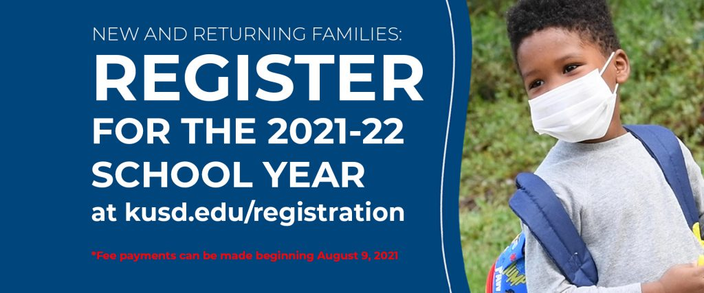 New and returning families: register for the 2021-22 school year