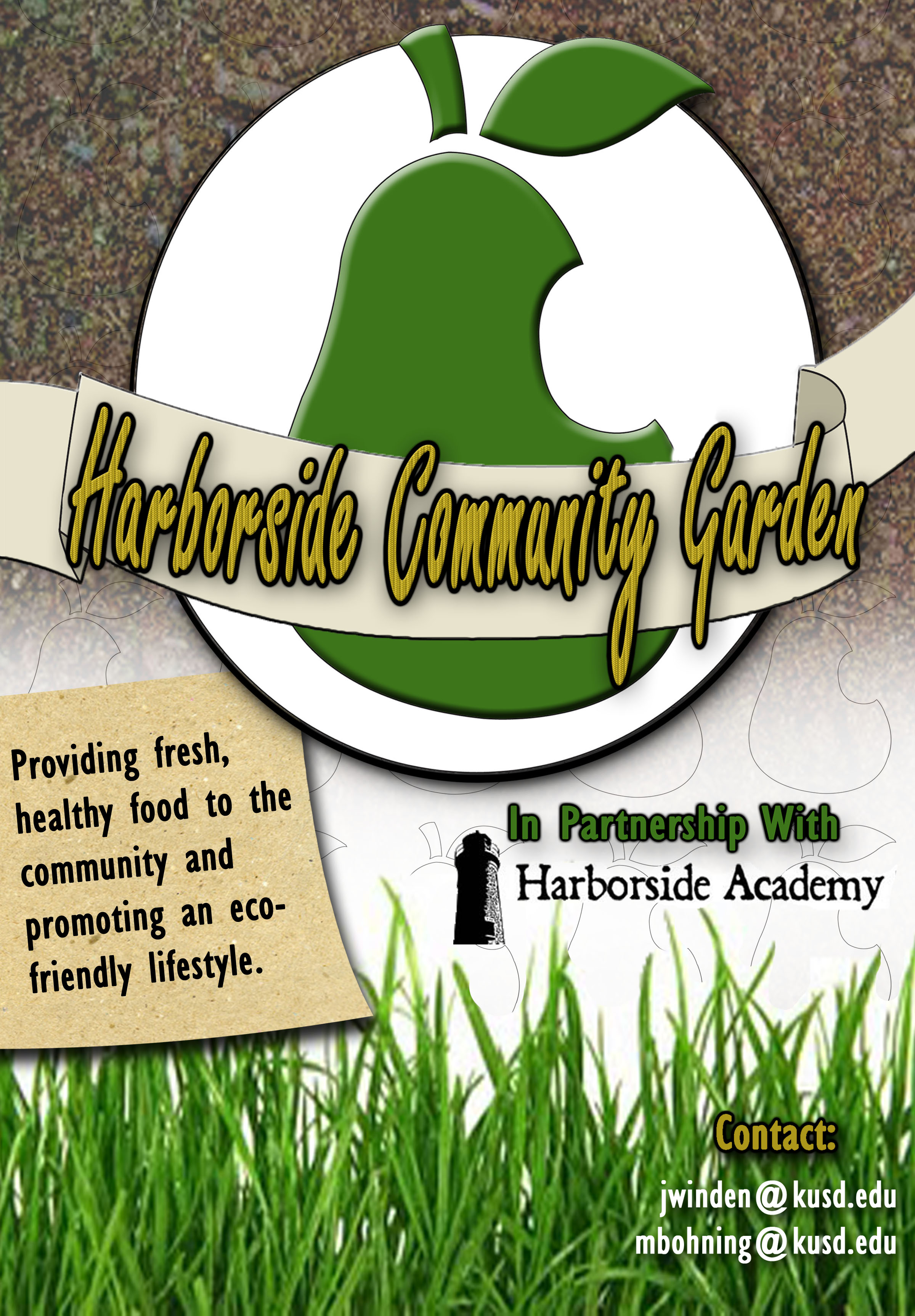 flyer for the harbor side community garden