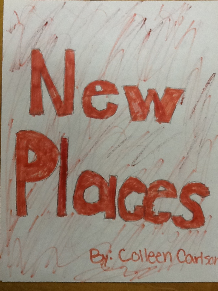 "cover page of students passage stating ""New Places"""