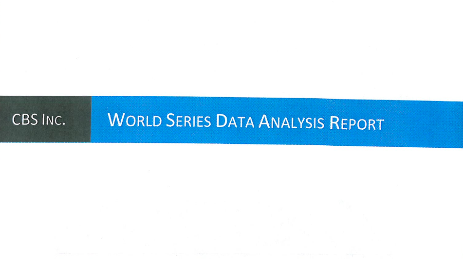 "screenshot of the title page of one of the students research paper reading ""an analysis of the World Series"""