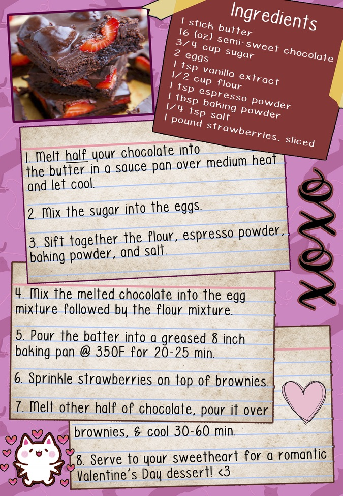 Kat's Cook Book – Strawberry Fudge Love Brownies – The Pulse