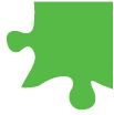med green puzzle piece