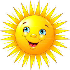 Illustration of a smiley-faced sun.