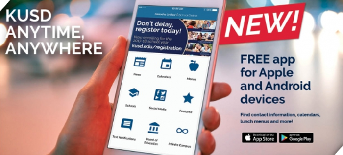 KUSD app for Apple and Android devices