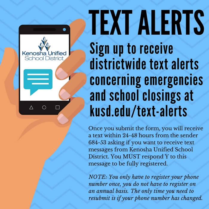 Sign up for district text alerts