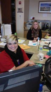 Mrs. Dean and Mrs. Vasquez in the office.