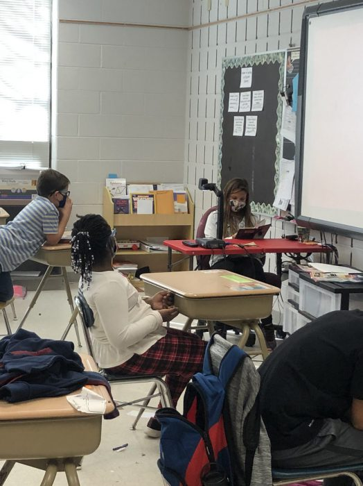 reading to class
