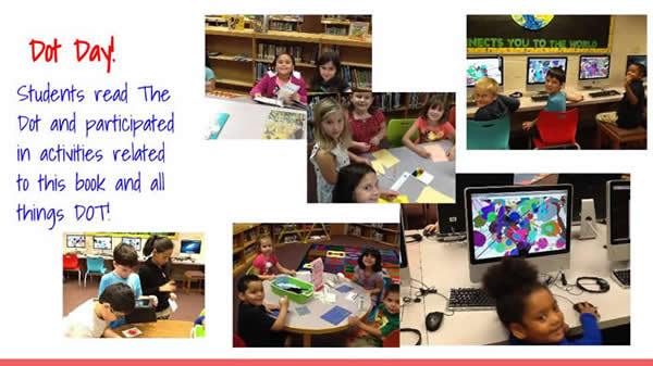 Dot Day! Students read The Dot and participated in activities related to this book and all things dot!